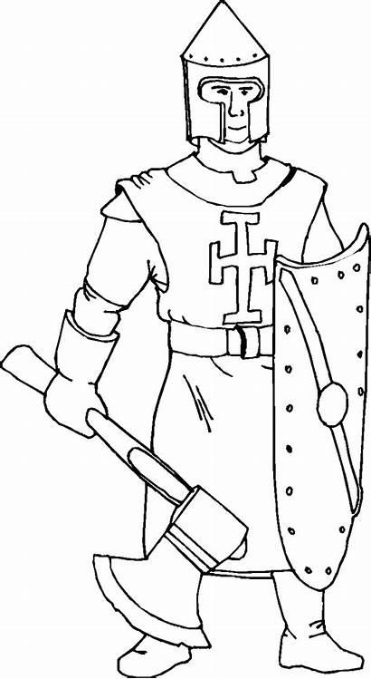 Ritter Knights Ausmalbilder Coloring Kinder Castles Zum