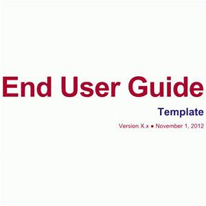 8  User Manual Templates