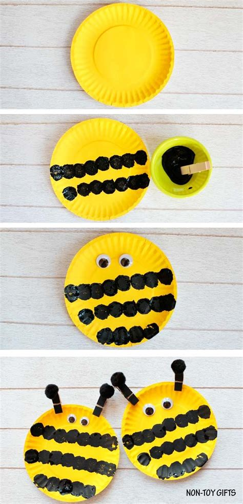 easy paper plate bee craft for classroom bee 854 | 4047b47daf5e29d1319e7aabfc6b38ec