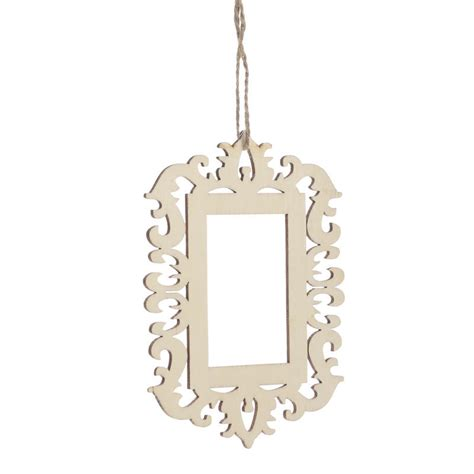 laser cut unfinished wood picture frame ornament wood