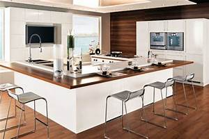 Cuisine équipée Ilot Central : modle cuisine avec ilot central decoration cuisine en ~ Dailycaller-alerts.com Idées de Décoration