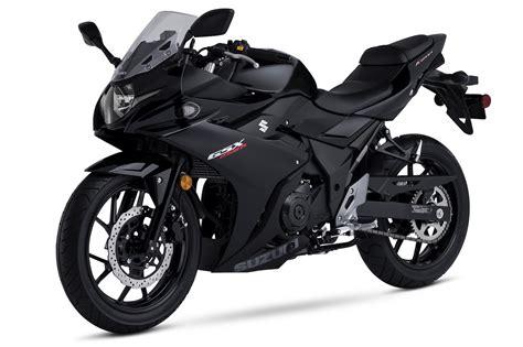 black motorbike 2018 suzuki gsx250r katana first look 12 fast facts