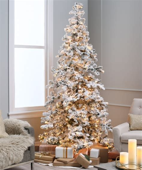 flocked tree heavy layered spruce artificial christmas