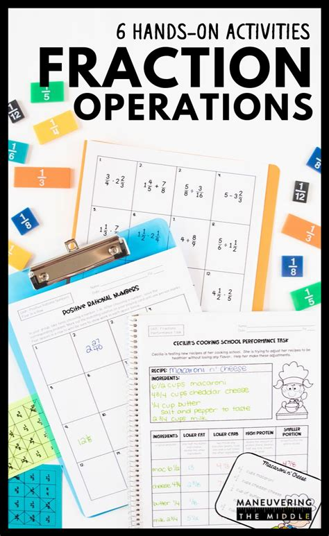 Fraction Operations Activity Bundle 6th Grade in 2020 ...