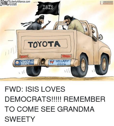 Toyota Memes - libertyalliancecom 02015 com isis toyota obama 12 biden hillar 2016 grandma meme on sizzle