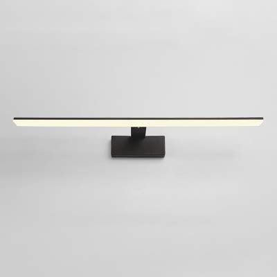 contemporary lighting 1 light blackwhite led linear