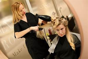 Professional Hair Stylist At Work - Hairdresser Doing ...