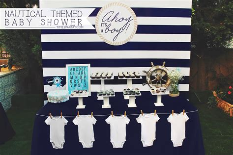 A Nautical Themed Baby Shower Time2partaycom