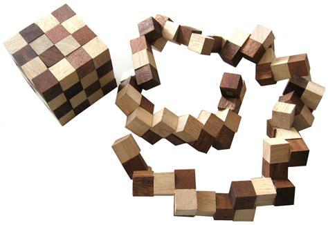 Puzzle Le Anleitung Schlangenwürfel 4x4 Gr S 6x6x6 Cm Snake Cube Würfel