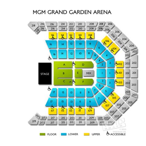 mgm grand garden arena seating mgm grand garden arena tickets mgm grand garden arena