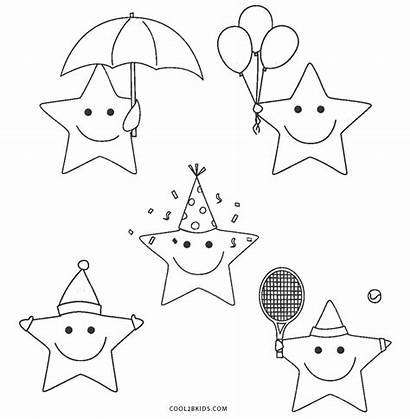 Star Coloring Pages Printable Stars Cool2bkids Cartoon