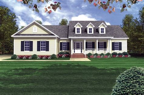 sq ft country ranch house plan  bed  bath