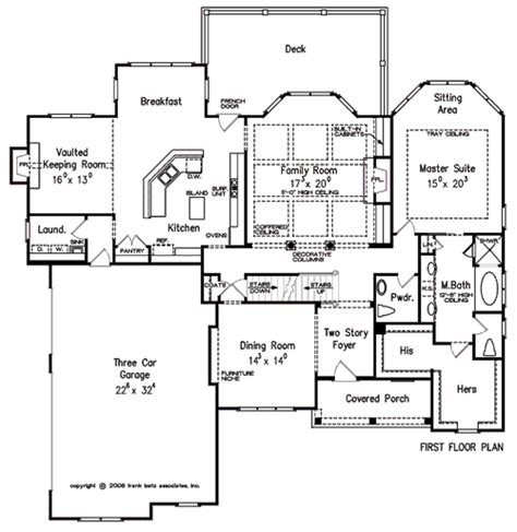 Frank Betz Summerlake Floor Plan by Canton House Floor Plan Frank Betz Associates