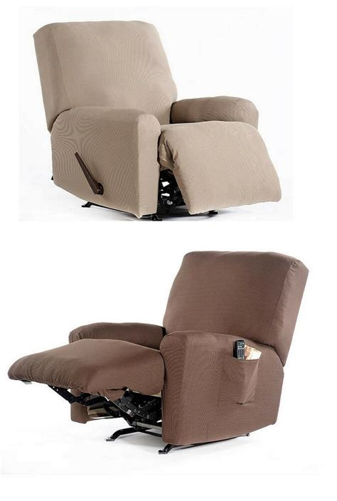 recliner chair stretch fabric slip cover  piece set