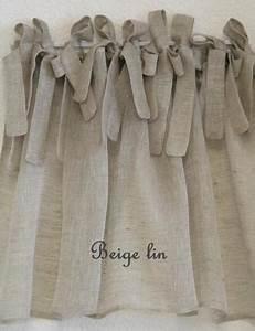 Rideau A Nouette : cantonni re nouettes en voile de lin mod le atelier le monde de rose ~ Teatrodelosmanantiales.com Idées de Décoration