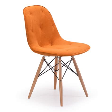 chaise velours zuo modern probability orange dining chairs dining room