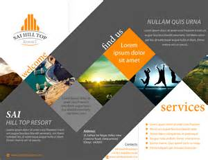 design brochure brochure design for sai hill top resort portfolio brochures business