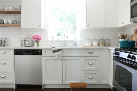 restoration hardware kitchen faucet white shaker cabinets transitional kitchen benjamin
