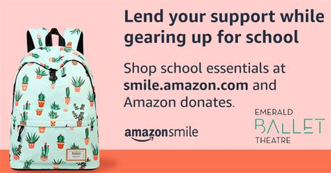 amazon smile ebt fall encourage charity choice select every then