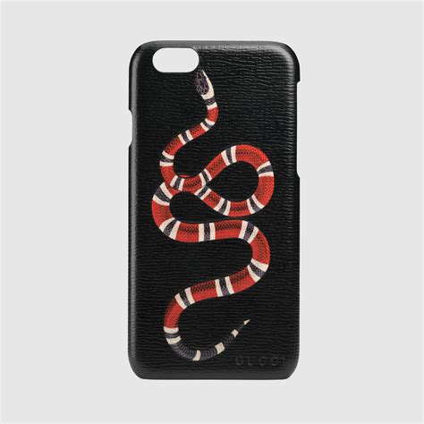 gucci iphone gucci snake print iphone 6 in black lyst