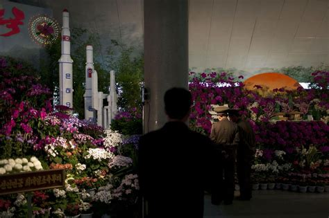 north korean flower show celebrates rockets  missiles
