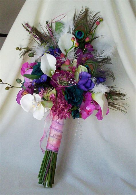 17 Ideas About Peacock Wedding Flowers On Pinterest