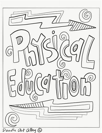 Coloring Subject Education Physical Health Pe Subjects