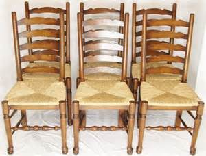 antiques atlas set 6 ladder back dining chairs