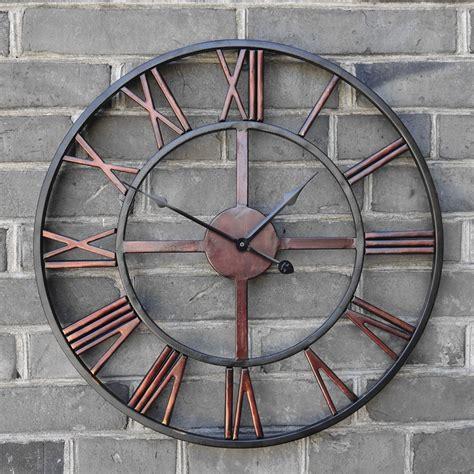 horloge cuisine vintage pas cher surdimensionné 3d rétro romaine vintage en fer