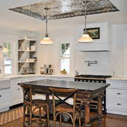 tin tiles for backsplash in kitchen tin coved ceiling readers 39 clever upgrade ideas that