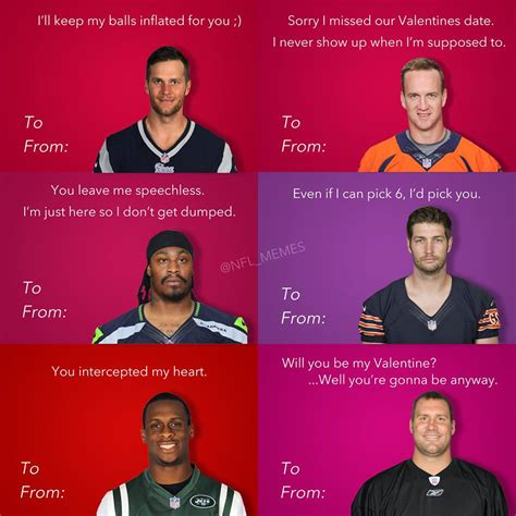 Valentines Day Cards Meme Football Meme 006 Cards Comics And Memes