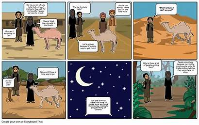 Comic Strip Trade Trans Sahara Storyboard