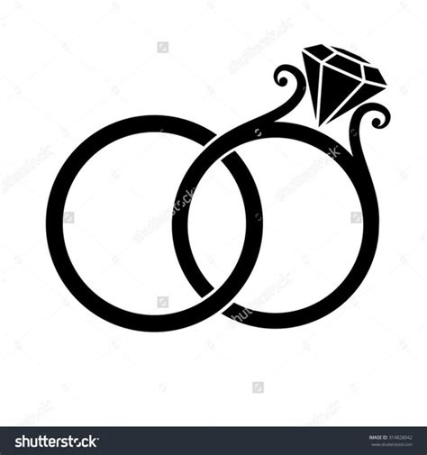 Ring Clipart Intertwined Wedding Rings Clipart Free Images At Clker