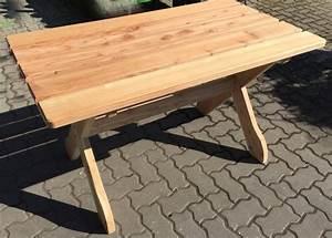 Holz massiv tisch 130 x 740 cm fsc laerche holztisch garten for Tisch holz massiv