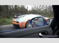 Bugatti Veyron CHASE! R8 V10 Spyder left behind YouTube