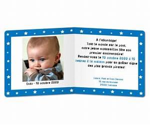 Texte Anniversaire 1 An Garçon : carte invitation anniversaire 1 an ft25 jornalagora ~ Melissatoandfro.com Idées de Décoration