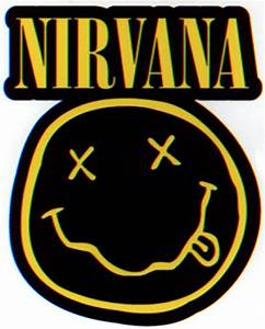 Nirvana Diecut Smiley Logo Sticker
