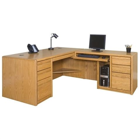 Martin Furniture Cont Rhf L Shape Home Office Set Medium