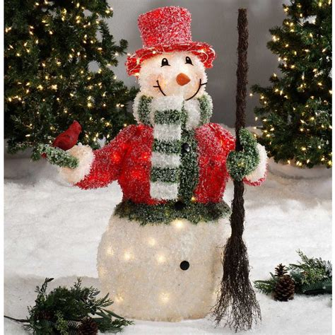 outdoor lighted snowman decorations 27 cozy ice christmas decorations for outdoors