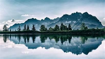 4k Mountain Lake Trees Nature Wallpapers
