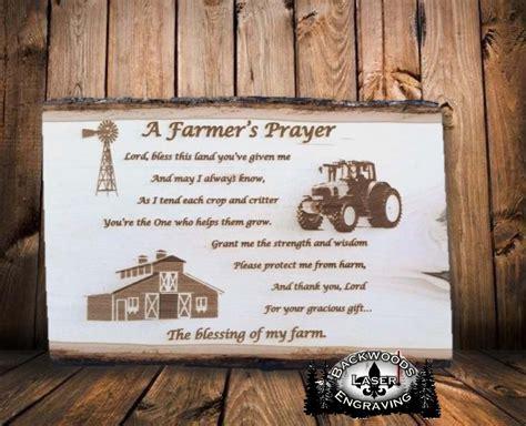 farmers prayer backwoods laser engraving