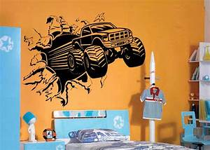 Wall decal awesome monster truck wall decals ideas for Awesome monster truck wall decals ideas