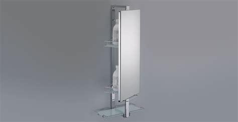 miroir de salle de bain 224 rangements pivotant allibert