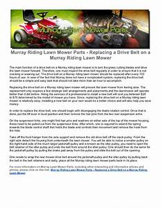Murray Riding Lawn Mower Parts