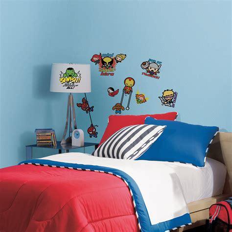 roommates marvel superhero kawaii art peel and stick wall