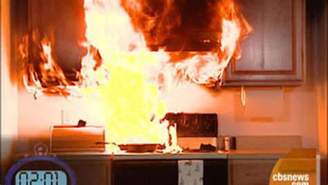 how do you get grease of kitchen cabinets grease fires dangerous fast spreaders cbs news 9867