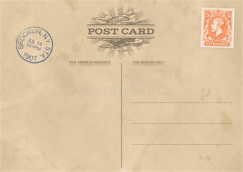 Vintage Postcard Template Vintage Backgrounds Vector Vintage Postcard Template Stock Vector