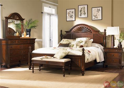 Royal Landing Tropical Tobacco Poster Bedroom Furniture Set