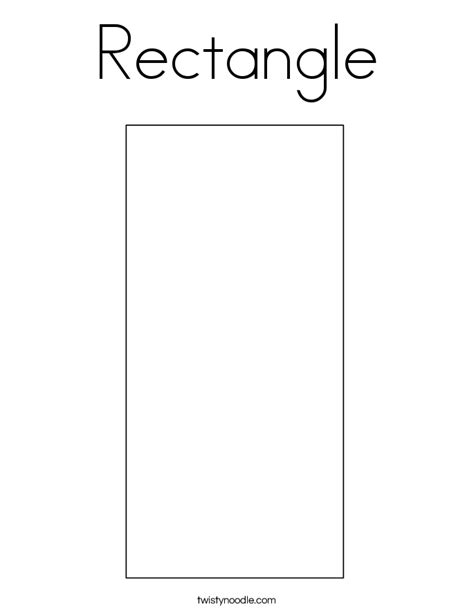 rectangle template rectangle coloring page twisty noodle
