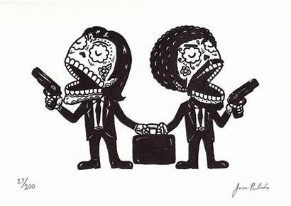 Pulp Fiction Calaveras Dia Tattoo Mexican Pulido
